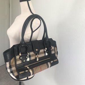 Burberry Large Manor Check bag.